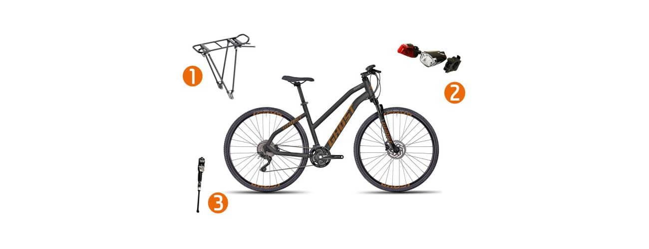 Kann man ein Crossbike zum Trekkingbike umbauen?
