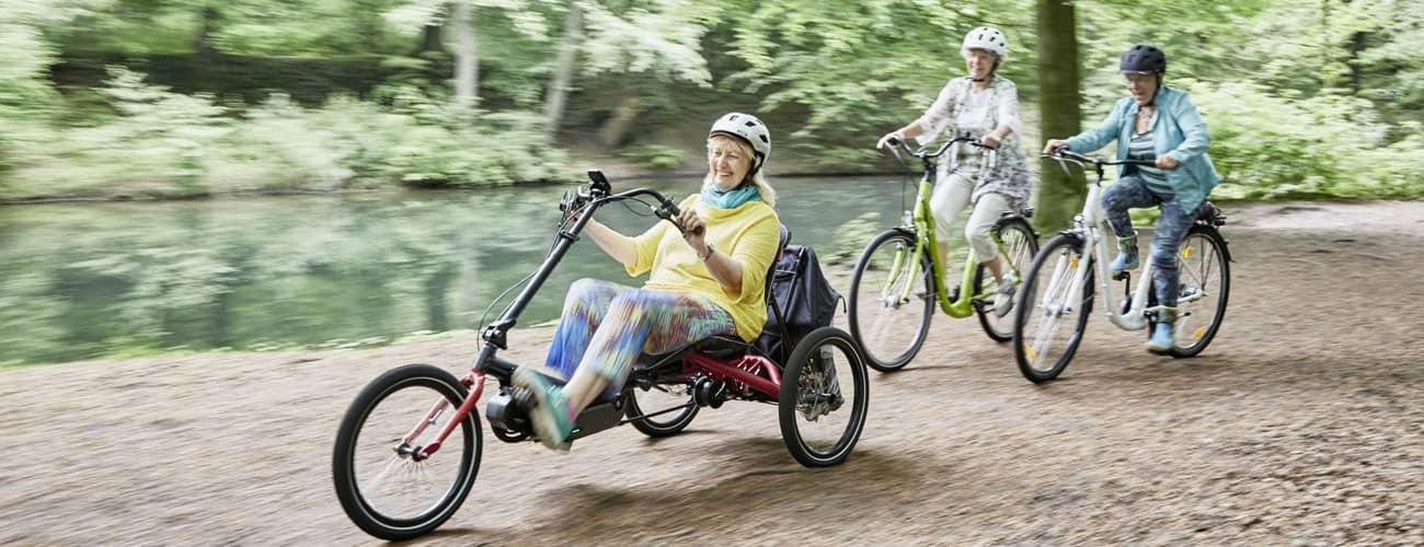 Sicher Fahrrad fahren im Alter