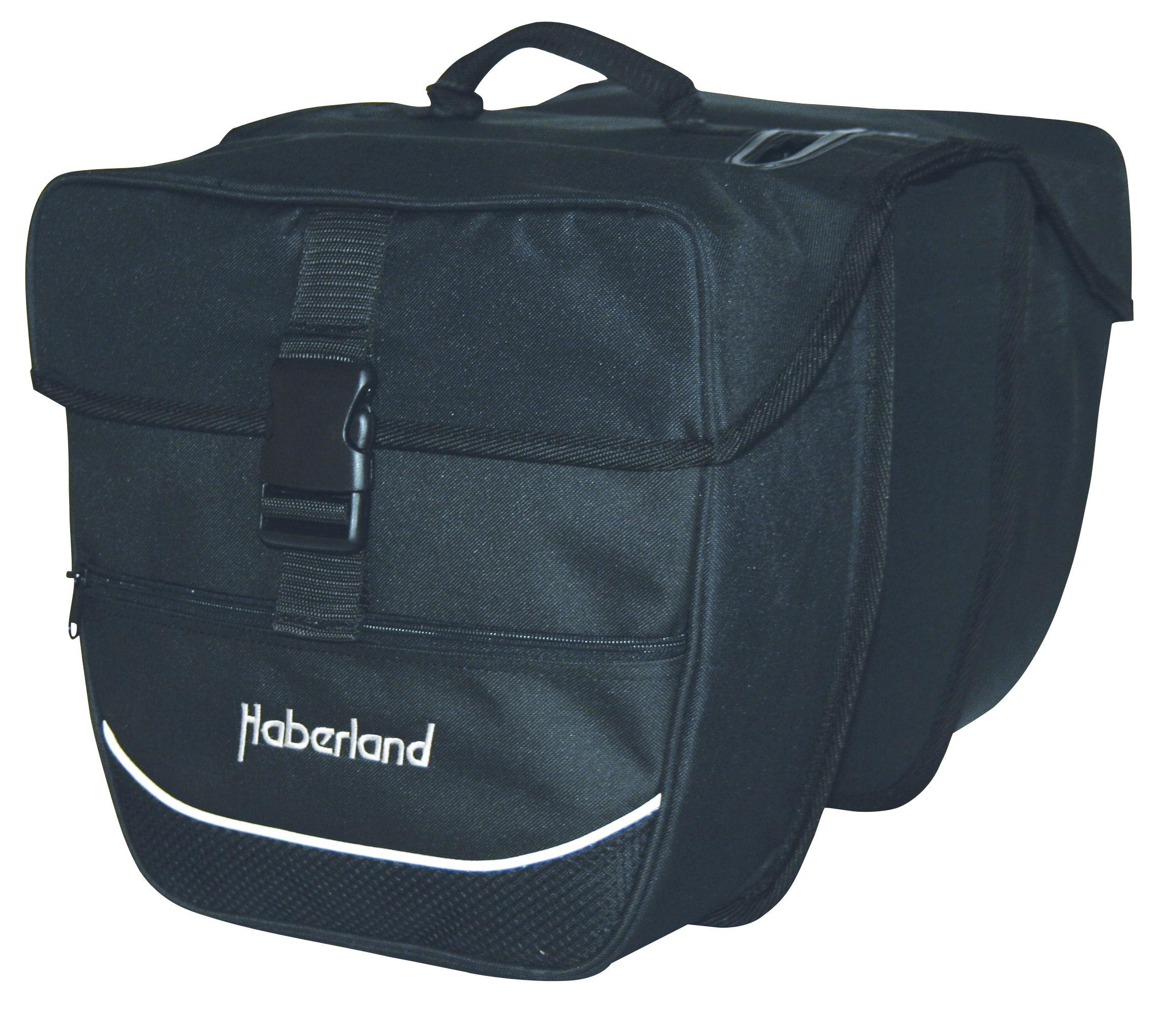 Haberland Doppeltasche schwarz 25 L